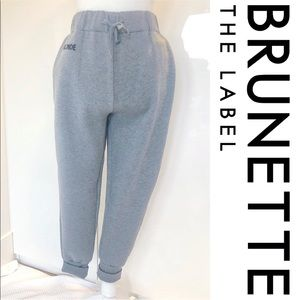 NWT Brunette The Label Middle Sister Gray Jogger